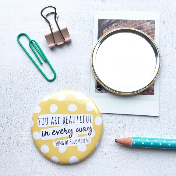 Dotty You are Beautiful Pocket Mirror