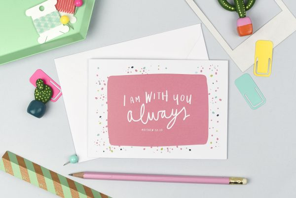 I am always with you postcard