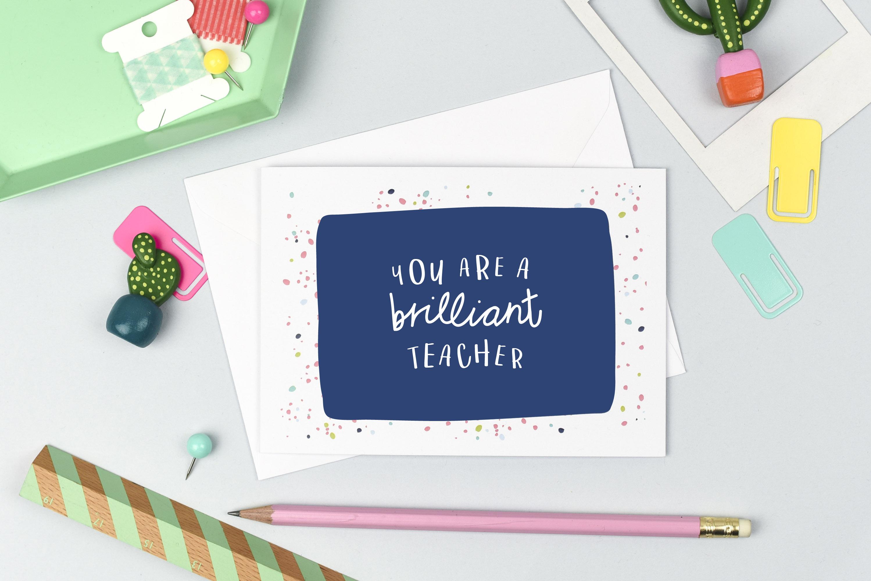 Brilliant Teacher Card