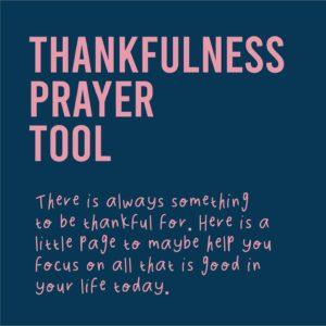 Thankfulness Printable