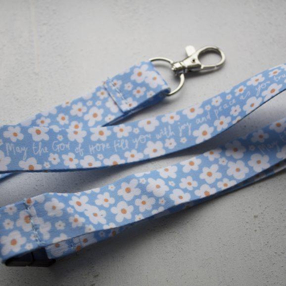Floral-Blue-Lanyard